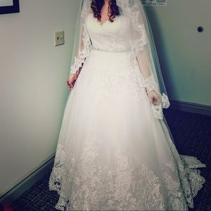 David's Bridal Wedding Gown - cost $958